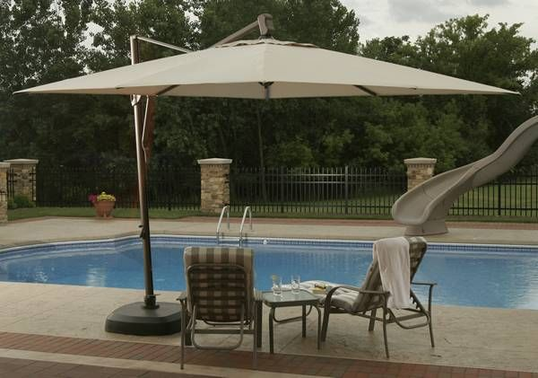 Lighted Umbrella For Patio Offset Patio Umbrellas Cantilever Umbrellas If You Need Large