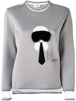 Karl  fur trim sweatshirt Sweatshirt Outfit, Fur Trim, Fendi, Karl  Lagerfeld de8cb300404