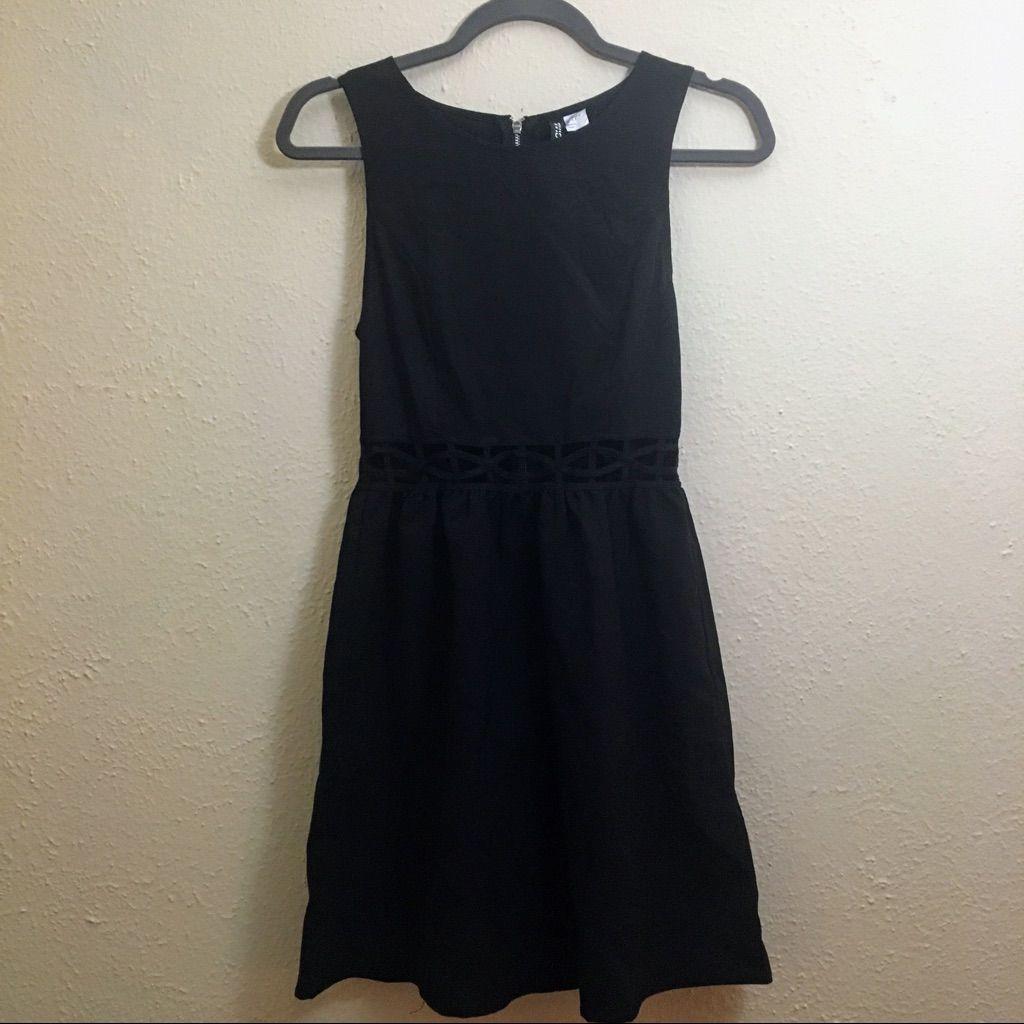 Black H&M Dress With Lattice Cut-Outs