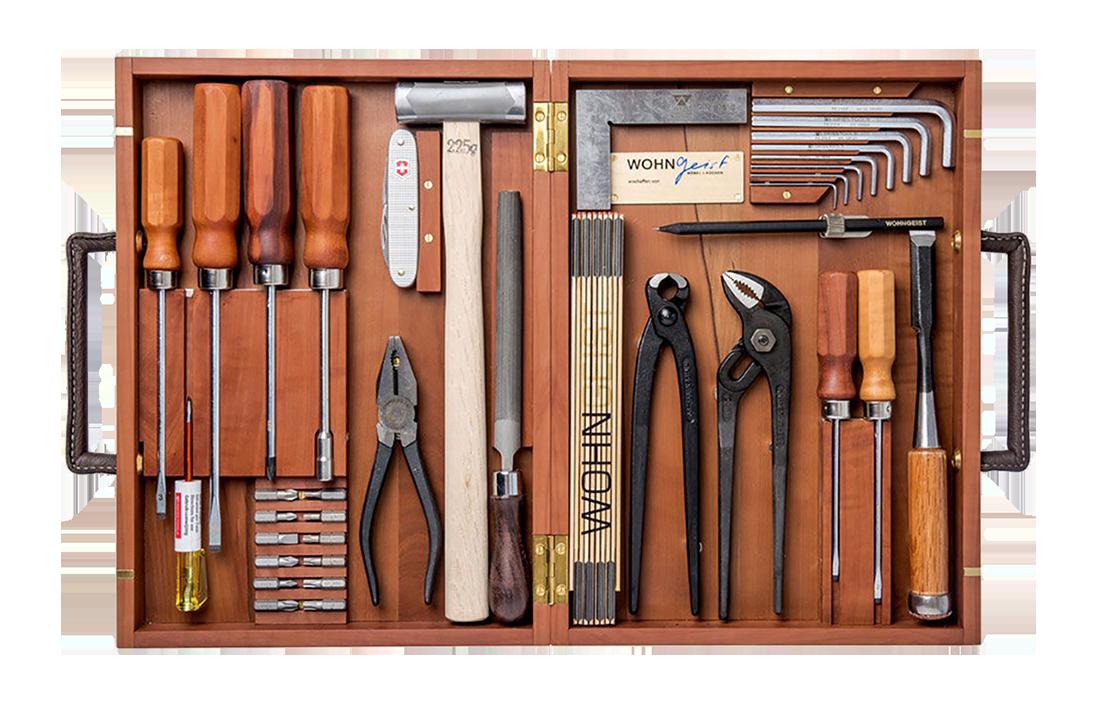 Wohngeist Swiss Tool Box Boite A Outils Outils Coffret Bois