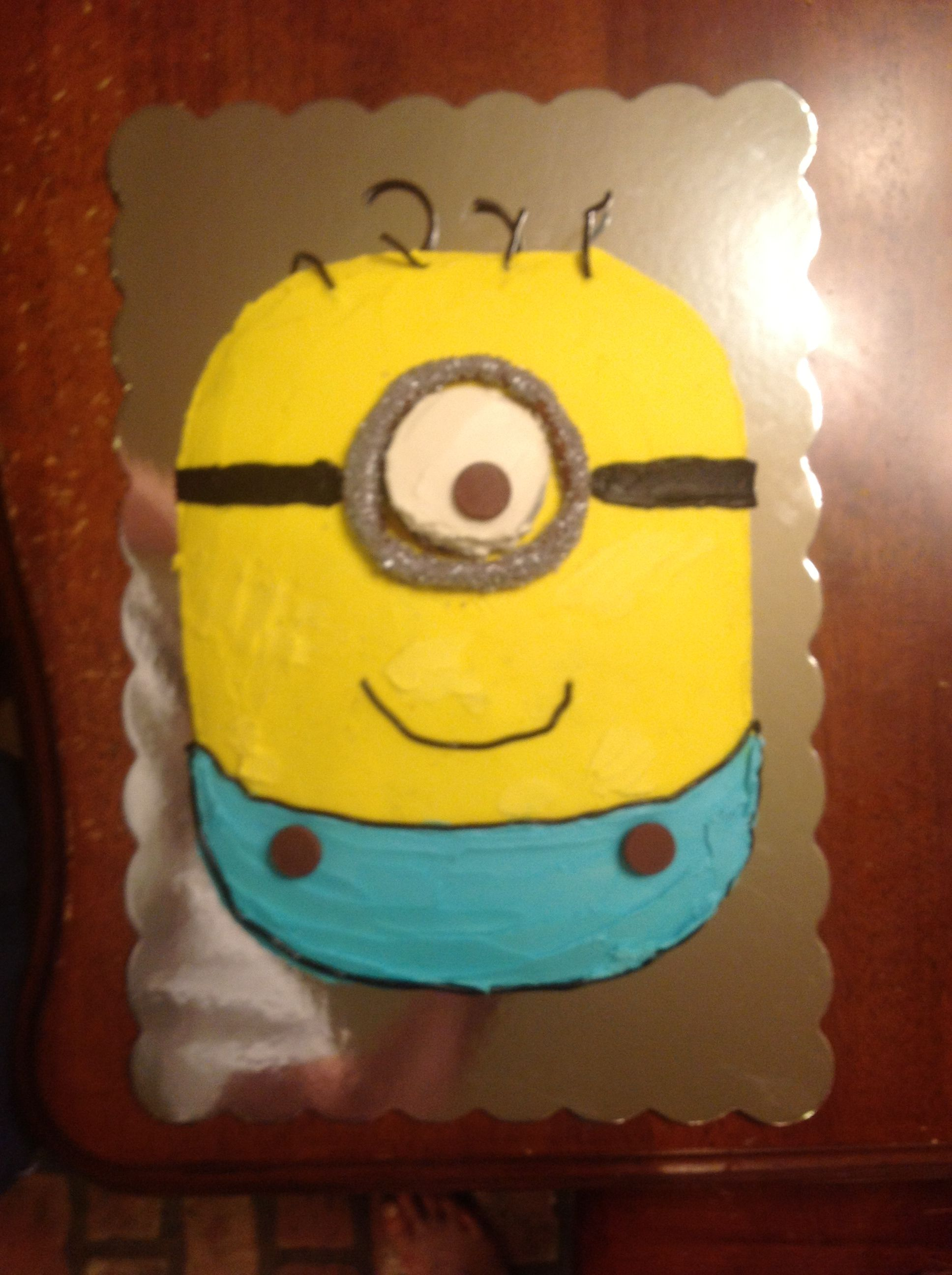 Despicable Me cake I made for my daughters movie party.