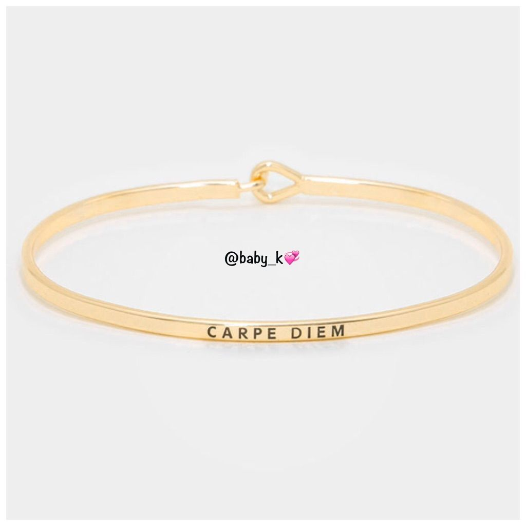 Carpe diem gold bracelet carpe diem and products