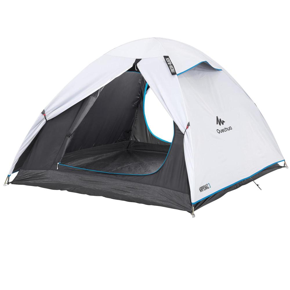 Kampeertent Voor 3 Personen Arpenaz Fresh Black Kamperen Met De Tent Kamperen Pop Up Tent