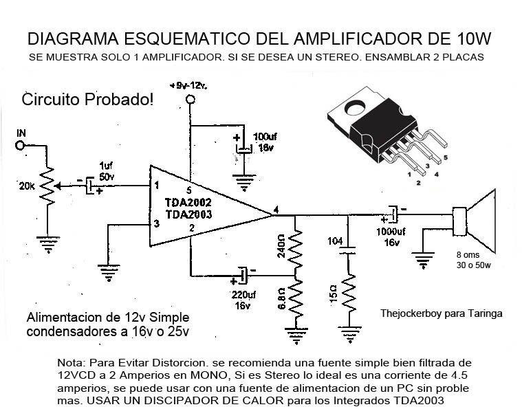 Amplificador de 10w Stereo - Taringa!