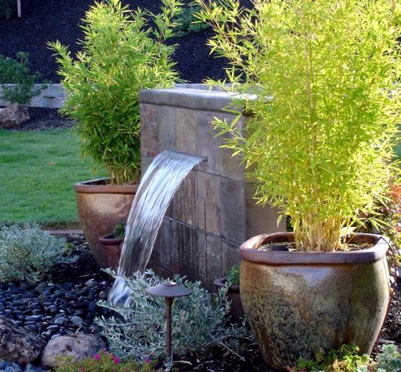 Imagenes de jardines peque os con fuentes de agua - Fotos de jardines pequenos ...
