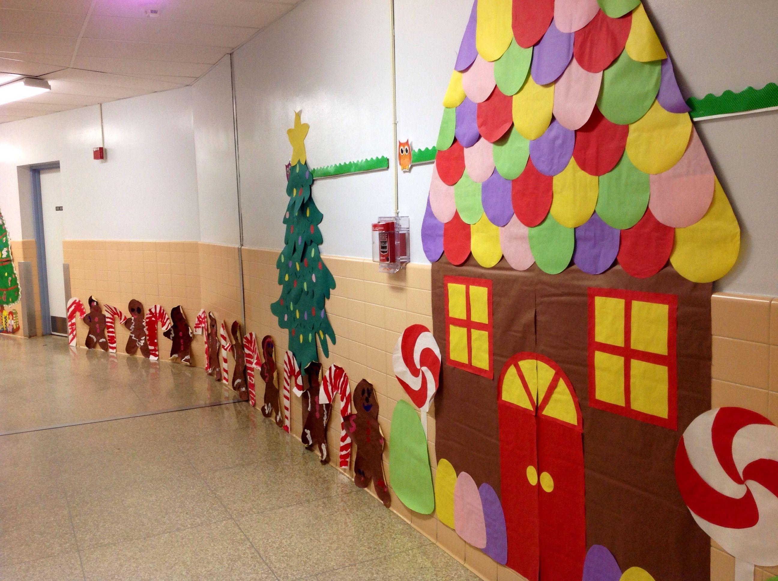 Candyland Christmas Door Decoration Ideas : Gingerbread house bulletin board ideas