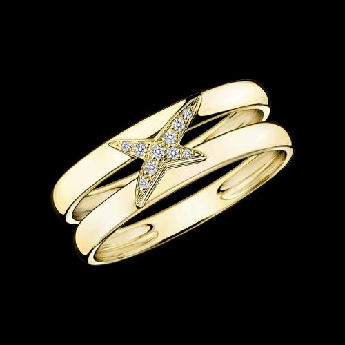 bague or jaune et diamant mauboussin