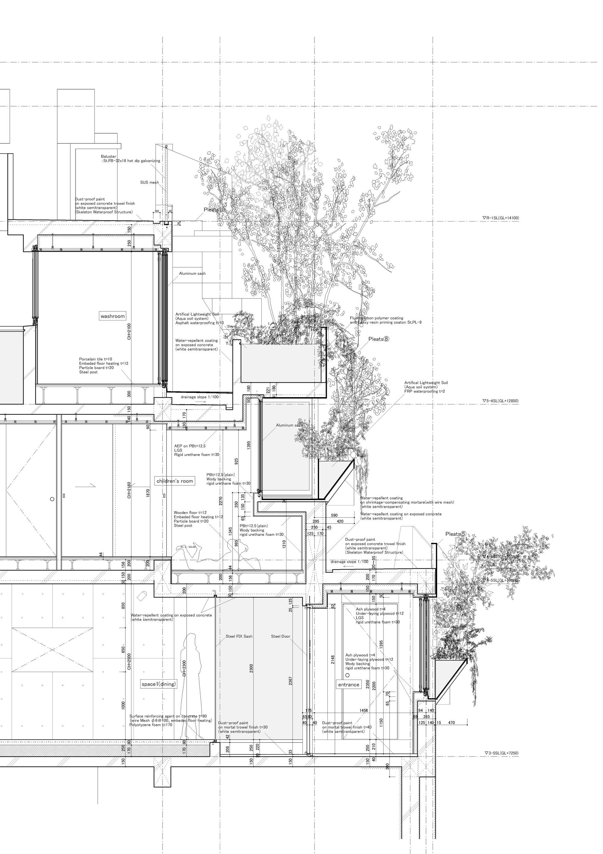gallery of tree-ness house    akihisa hirata