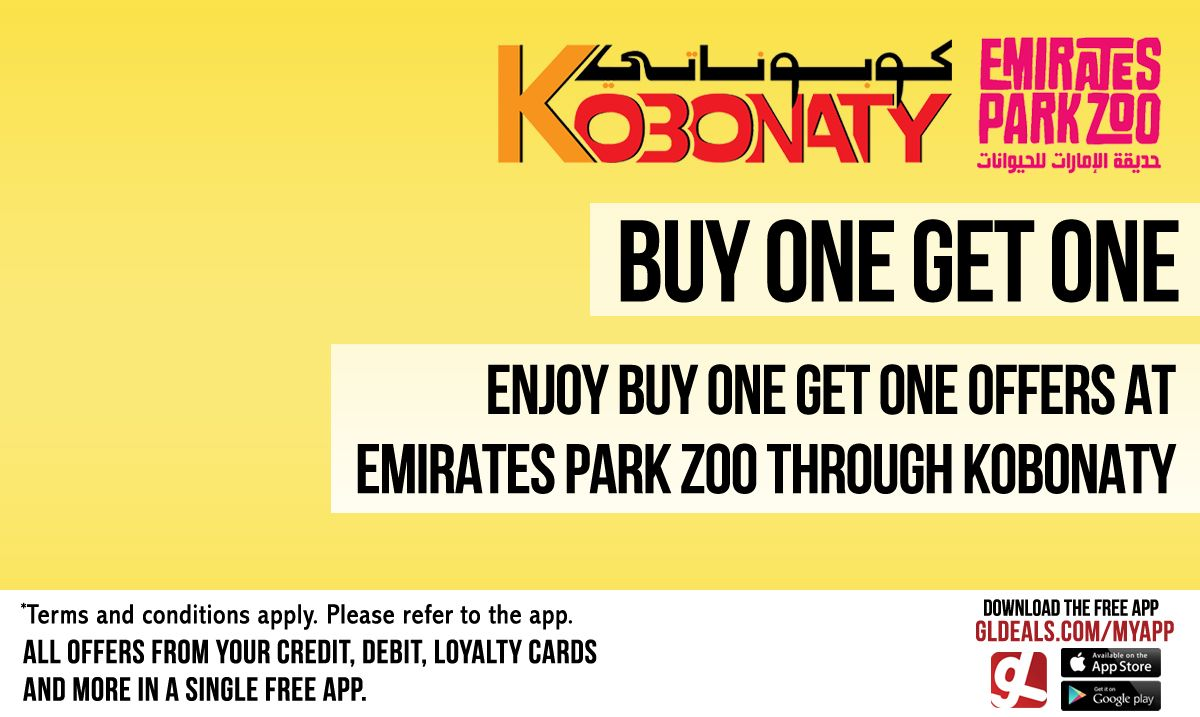 Enjoy buy one get one offers at Emirates Park Zoo through