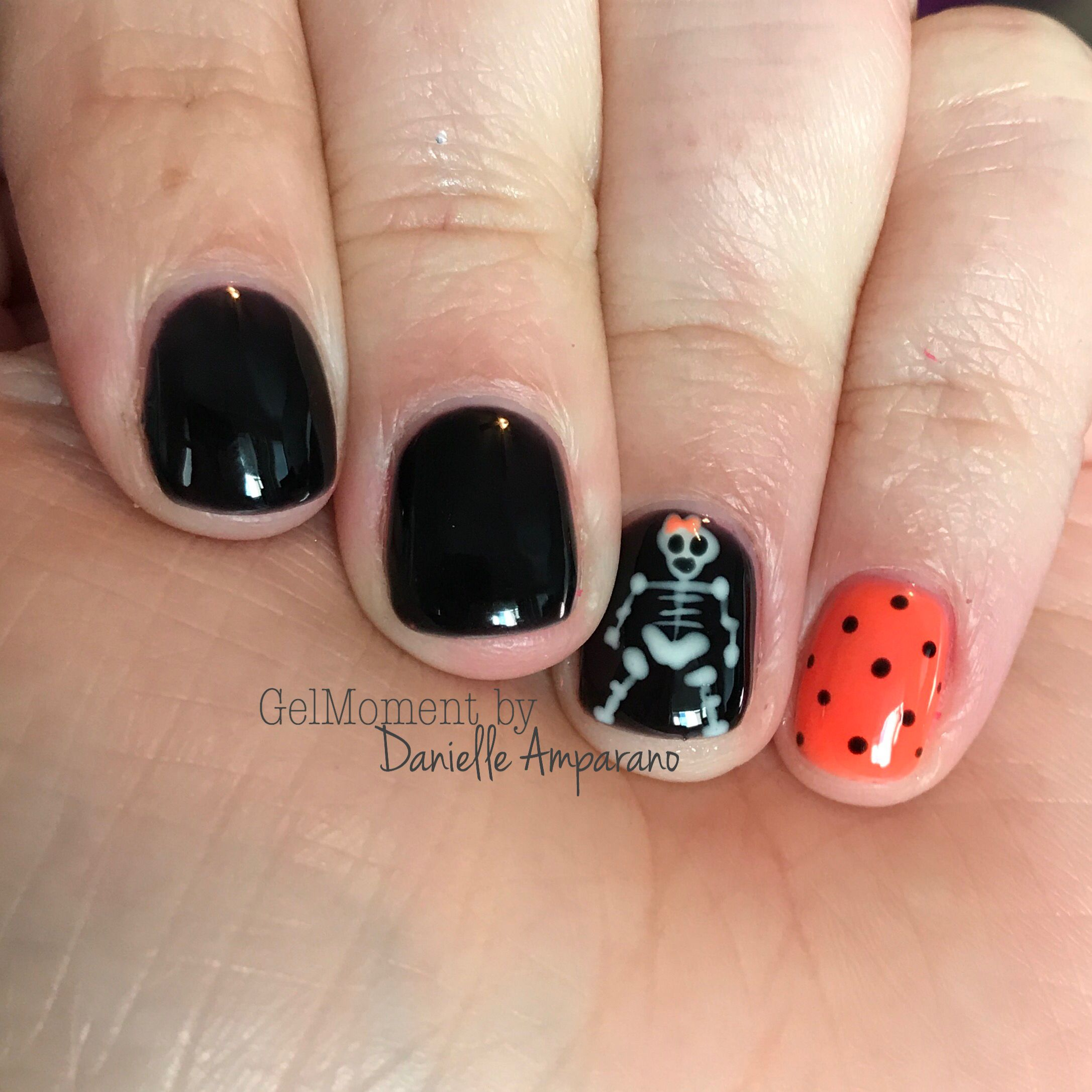 Halloween Skeleton Nail Art Done Using Gelmoment Non Toxic 1 Step Gel Polish That Lasts Up To 14 Days It S 5 Free Manicure And Pedicure Manicure Gel Polish