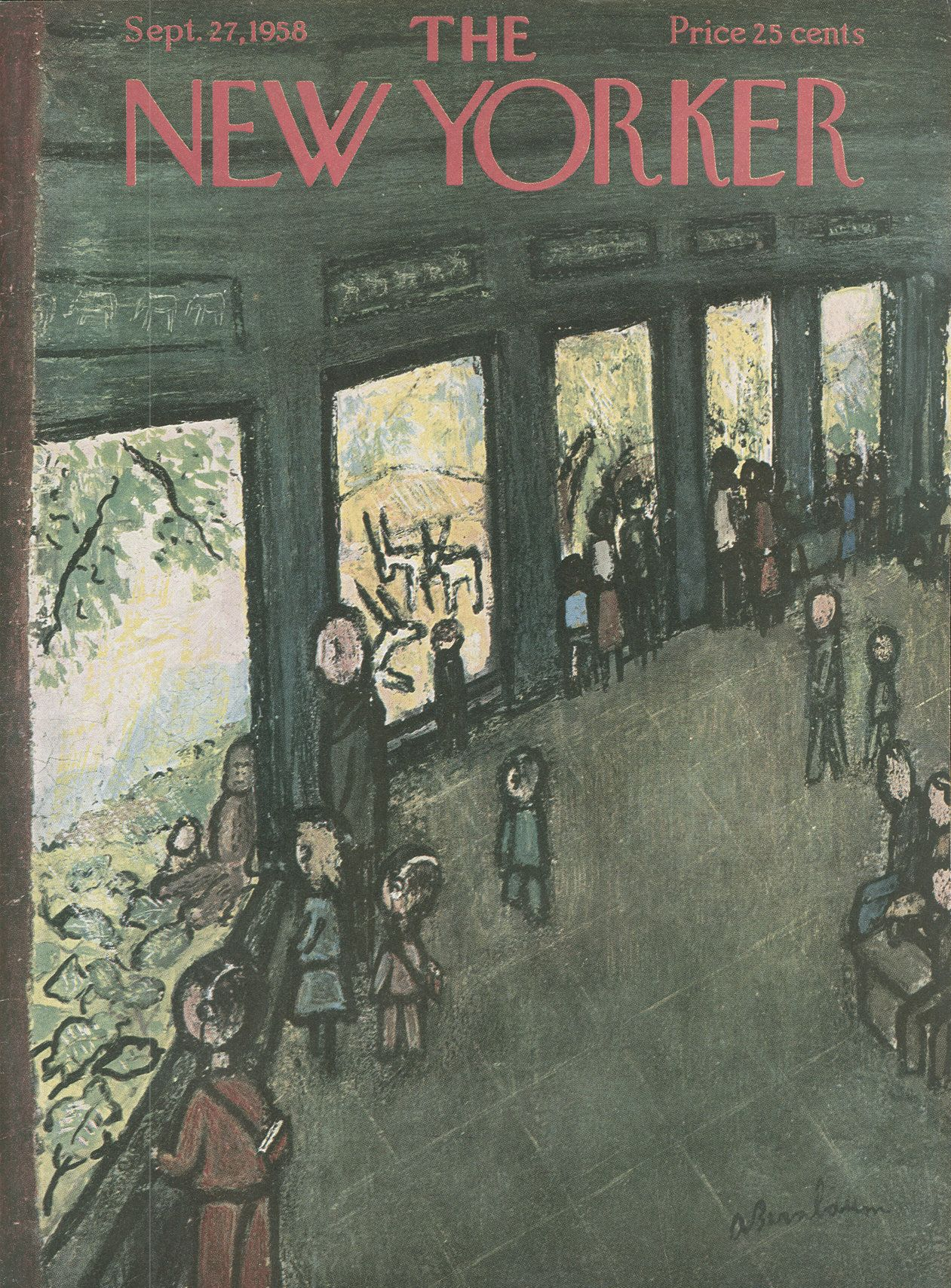The New Yorker - Saturday, September 27, 1958 - Issue # 1754 - Vol. 34 - N° 32 - Cover by : Abe Bimbaum