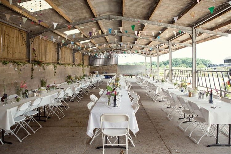 Fun & Laid Back Cow Shed Wedding on the Farm