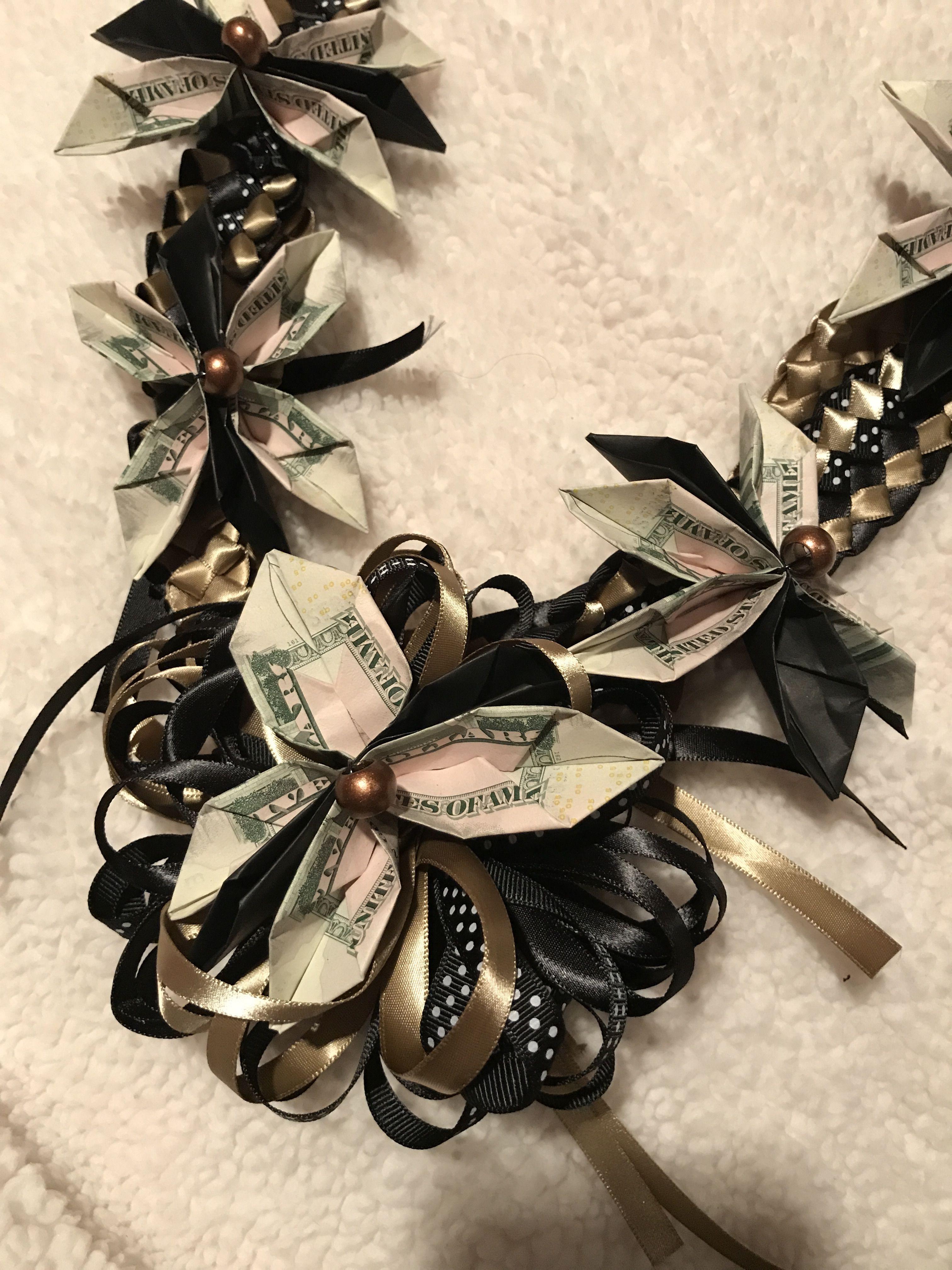 Money Flower Origami Lei Creations Pinterest Money Flowers