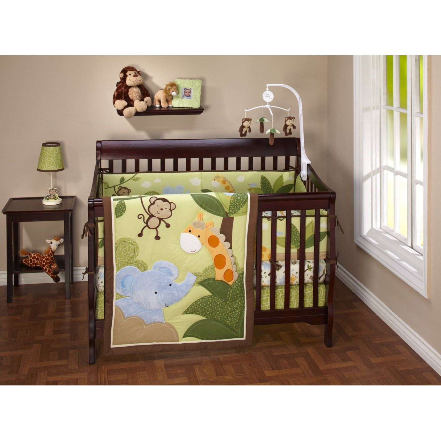 Custom Baby Bedding And Bumper Pads Jungle Theme Jungle Baby