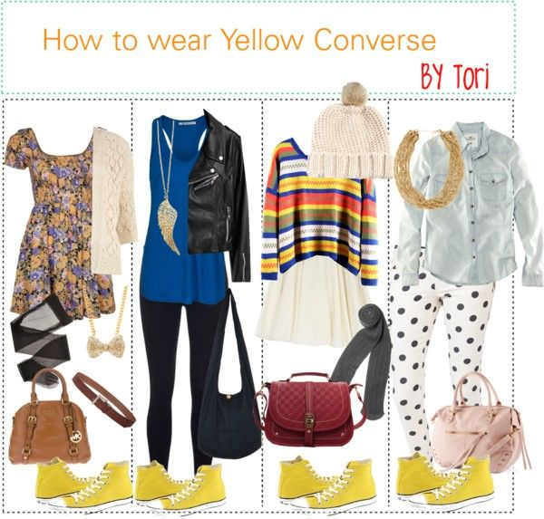 outfits with yellow converse