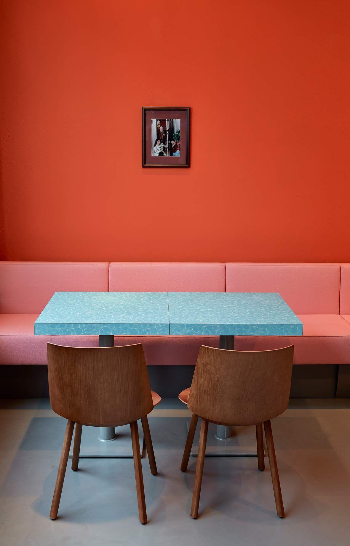 Pink und Orange #wandfarbe #streichen www.meinewand.de