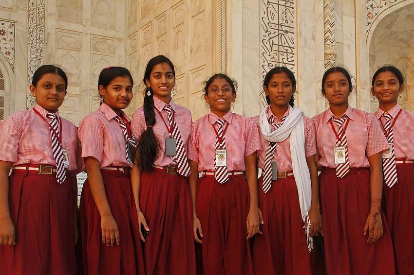 indian school uniform fashion