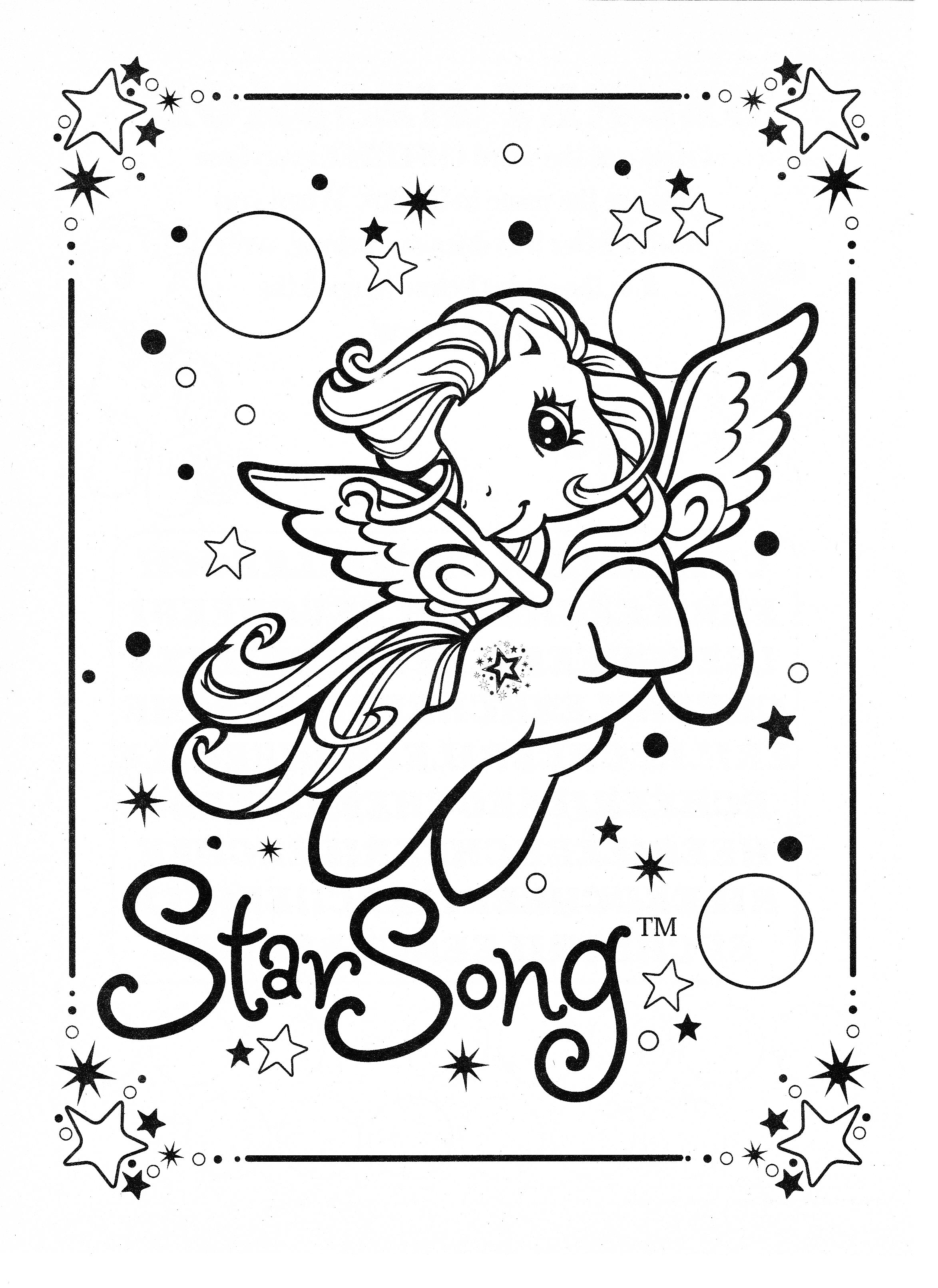 My Little Pony Coloring Page Mlp Star Song Coloring