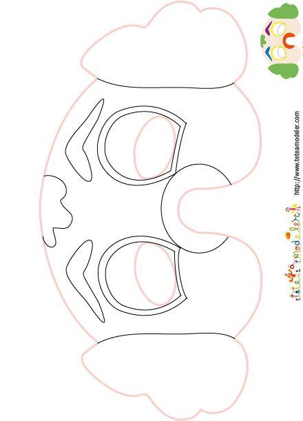 Imprimer le mod le du masque de clown colorier cirque - Tete de clown a imprimer ...