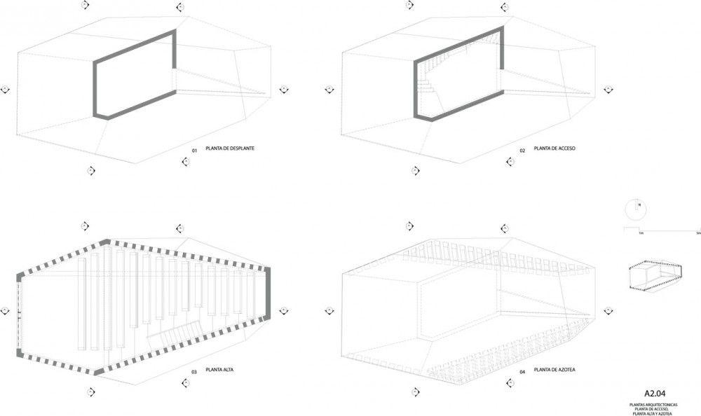 Corte wwwbunkerarquitectura Arquitectura Mundo Capilla del