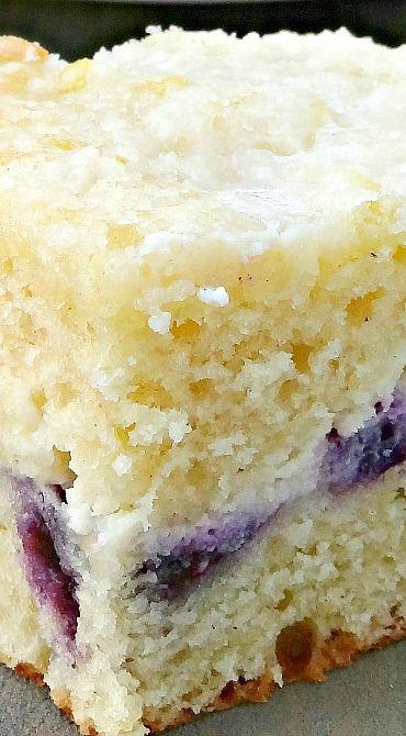 Blueberry Lemon Cream Cheese Coffee Cake ~ The best coffee cake ever Cake for mom #brownie #dessert