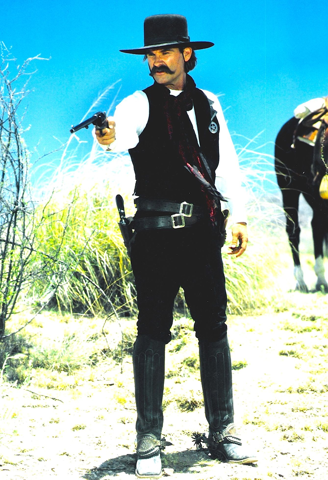 Tombstone Kurt Russell As Wyatt Earp Boots Made By Reyes Hat By Stetson Costume Designed By Me Jos Tombstone Movie Cowboy Action Shooting Western Movies