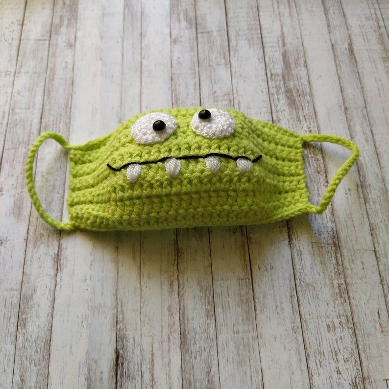 Photo of Crochet Om Nom face mask pattern for kids, Crochet face mask pattern pdf, Instant Download