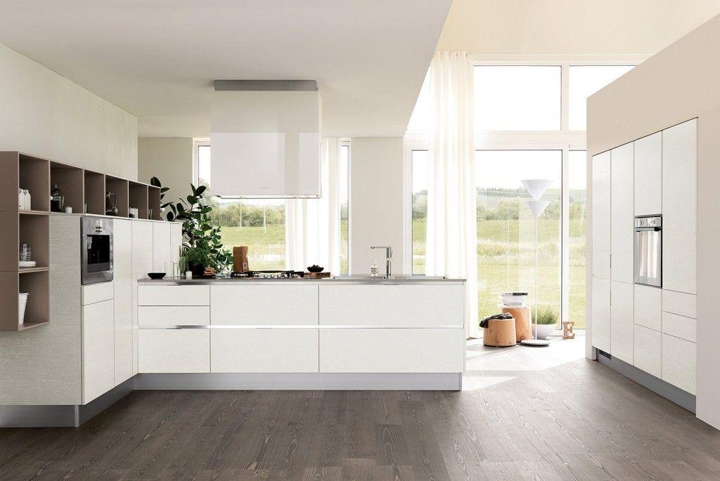 Cucine bianche moderne Modello di cucina contemporanea