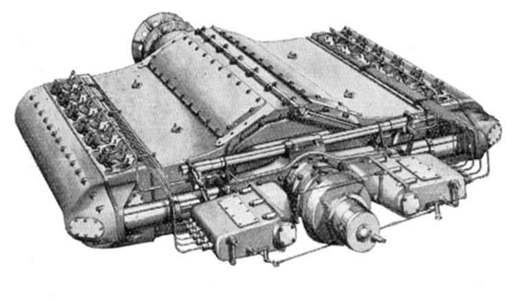 Beardmore Tornado Diesel 8-Cylinder Aero (Airship) Engine