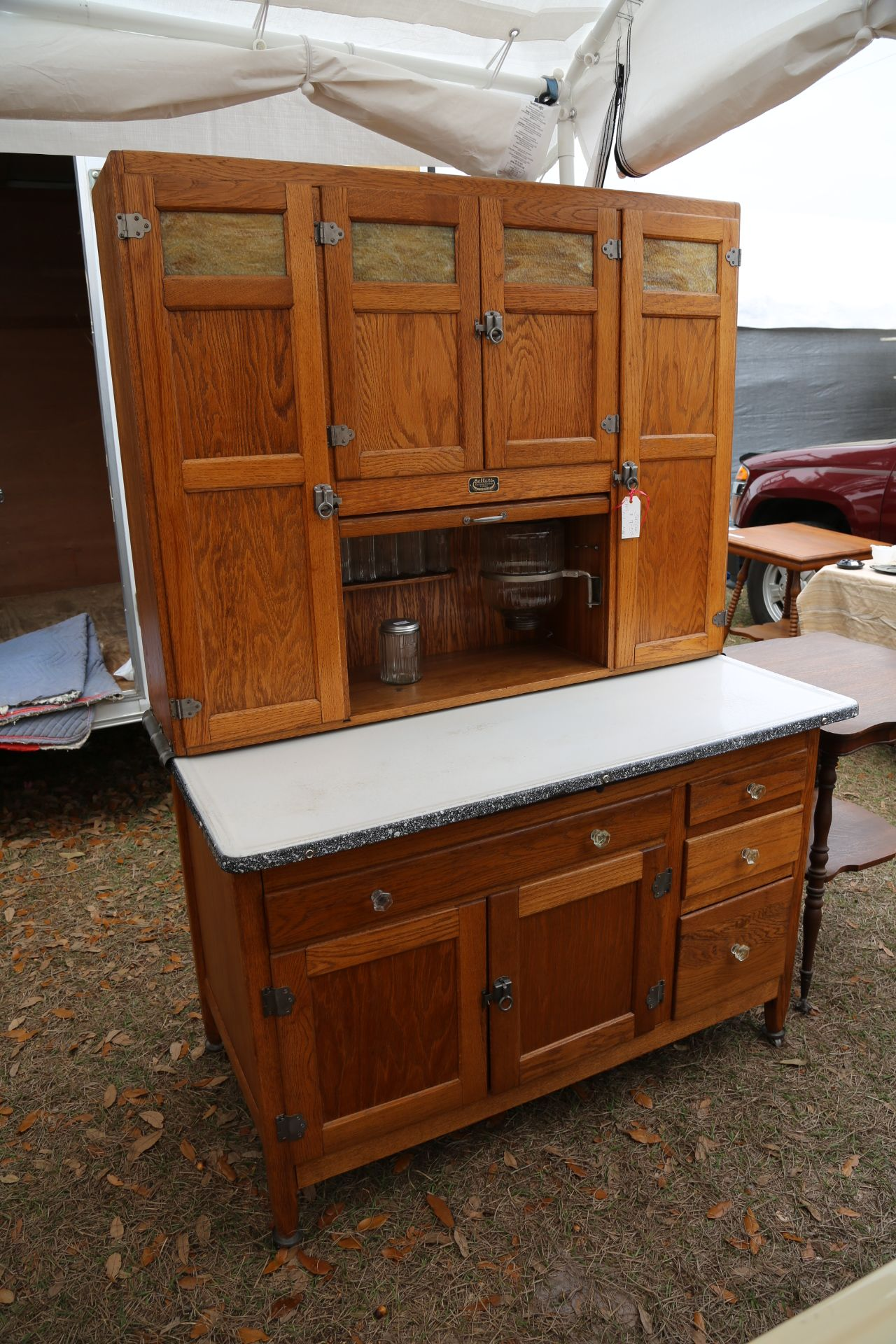 sellers antique kitchen cabinet wide sellers cabinet with slag glass hoosier 5125