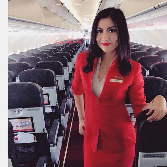 Air Asia stewardess crewfie @helidyasonta | Jual Obat Pelangsing ...