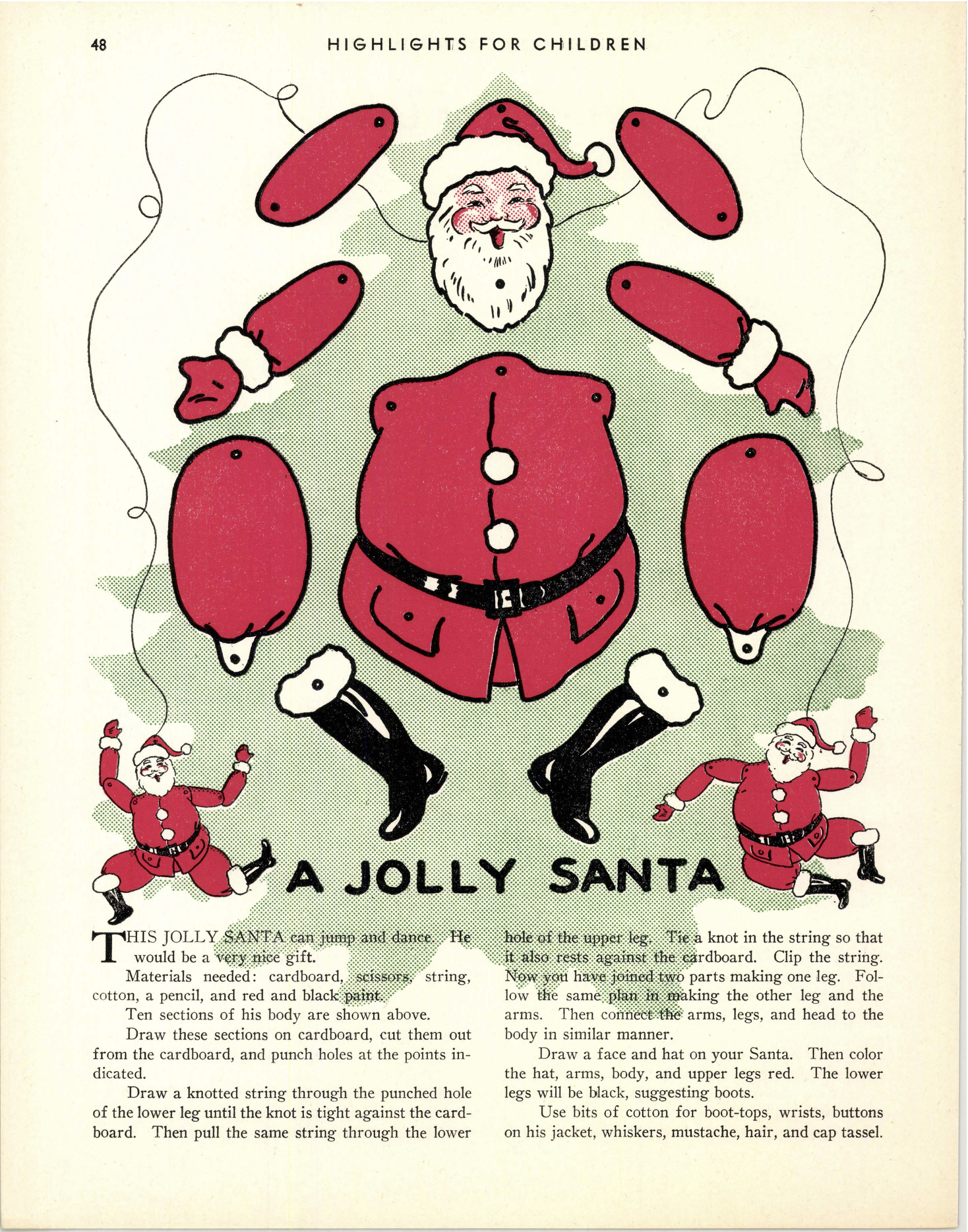 Vintage Jolly Santa Printable Craft