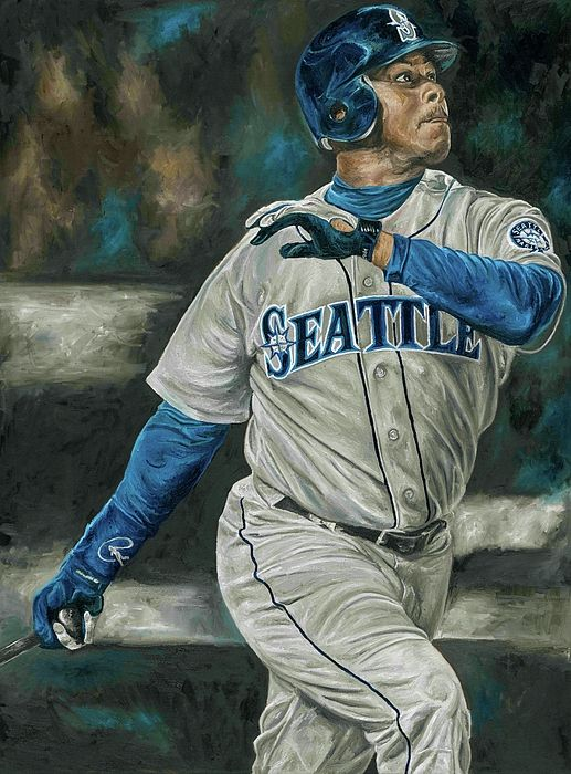 fd33f77c41 Baseball Painting, Sports Painting, Baseball Art, Baseball Stuff, Ken  Griffey, Jr