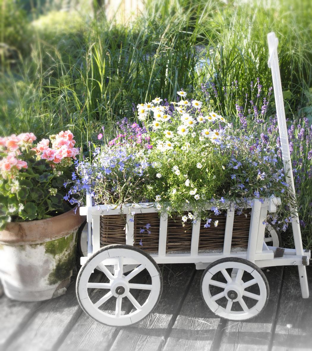 Vintage Garten vintage garten bollerwagen mit blumen bepflanzen gardens garden