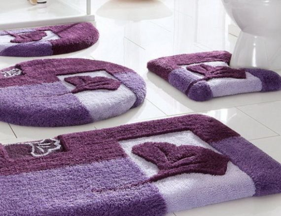 Bon Bathroom , 12 Pretty Designer Bathroom Rugs And Mats : Bathroom Rug Sets