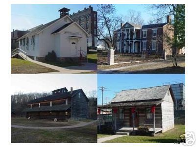 Newton County Missouri Views Including Jolly Mill Ritchey Mansion Pioneer Cabin Early School Neosho Neosho Missouri Granby
