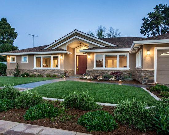 Exterior Ranch House Designshome Design Gorgeous Green