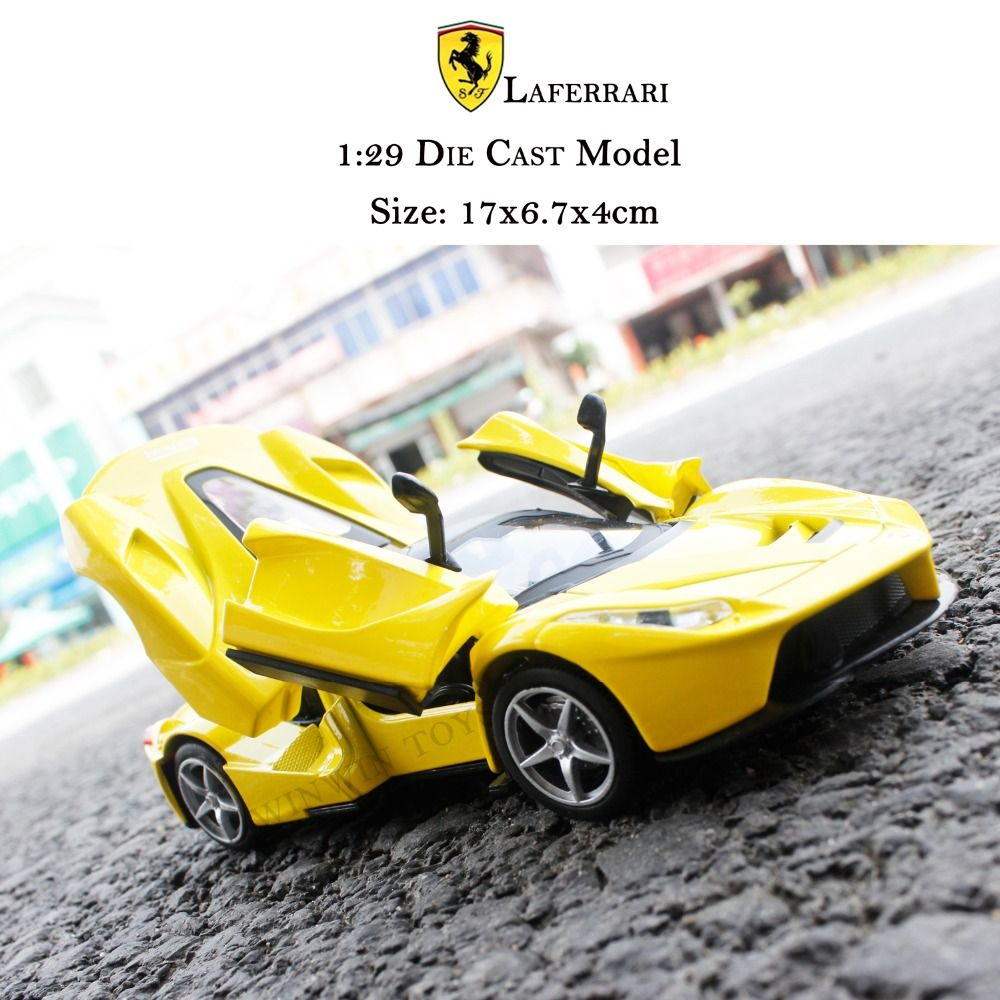 High Simulation 1 29 Red Sport Cars Metal Diecast Toy Vehicle Mini Super Car Toys For Children Red Sports Car Toy Car Diecast Toy