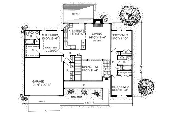 Cottagewood Ranch House Plans