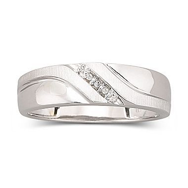 white gold ring mens diamond accent 10k jcpenney - Jcpenney Rings Weddings