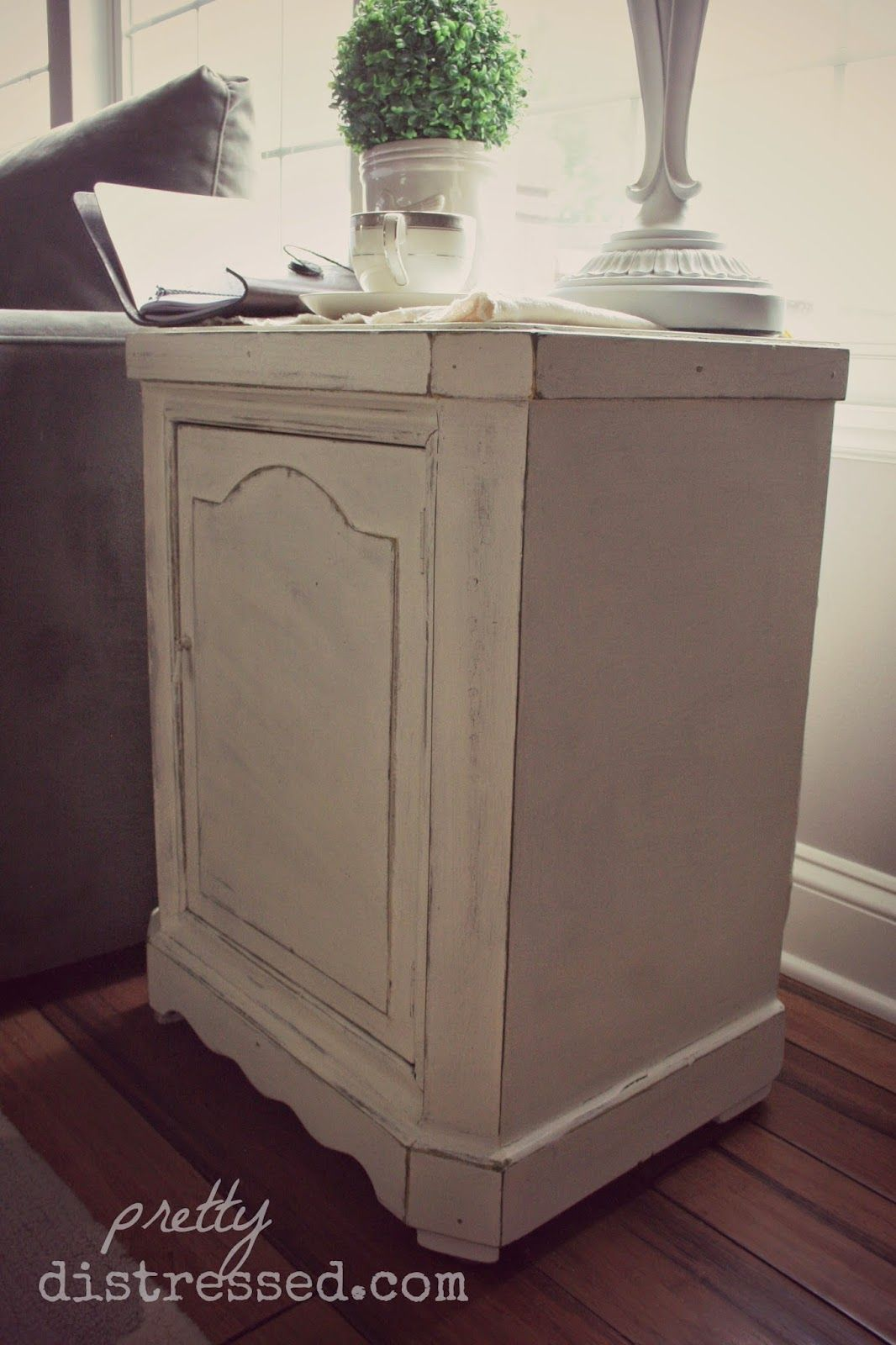 distressing old furniture. Two Color Distressing With Annie Sloan Chalk Paint® In Paris Grey And Old White Furniture