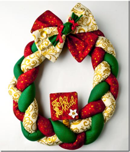 Hacer corona navidad trenzada para decorar la puerta muy for Como hacer una corona de navidad para la puerta