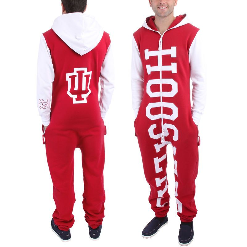 7e07bc85dd6 Indiana Hoosiers Zoopless Full-Zip Adult Jumpsuit - Crimson ...