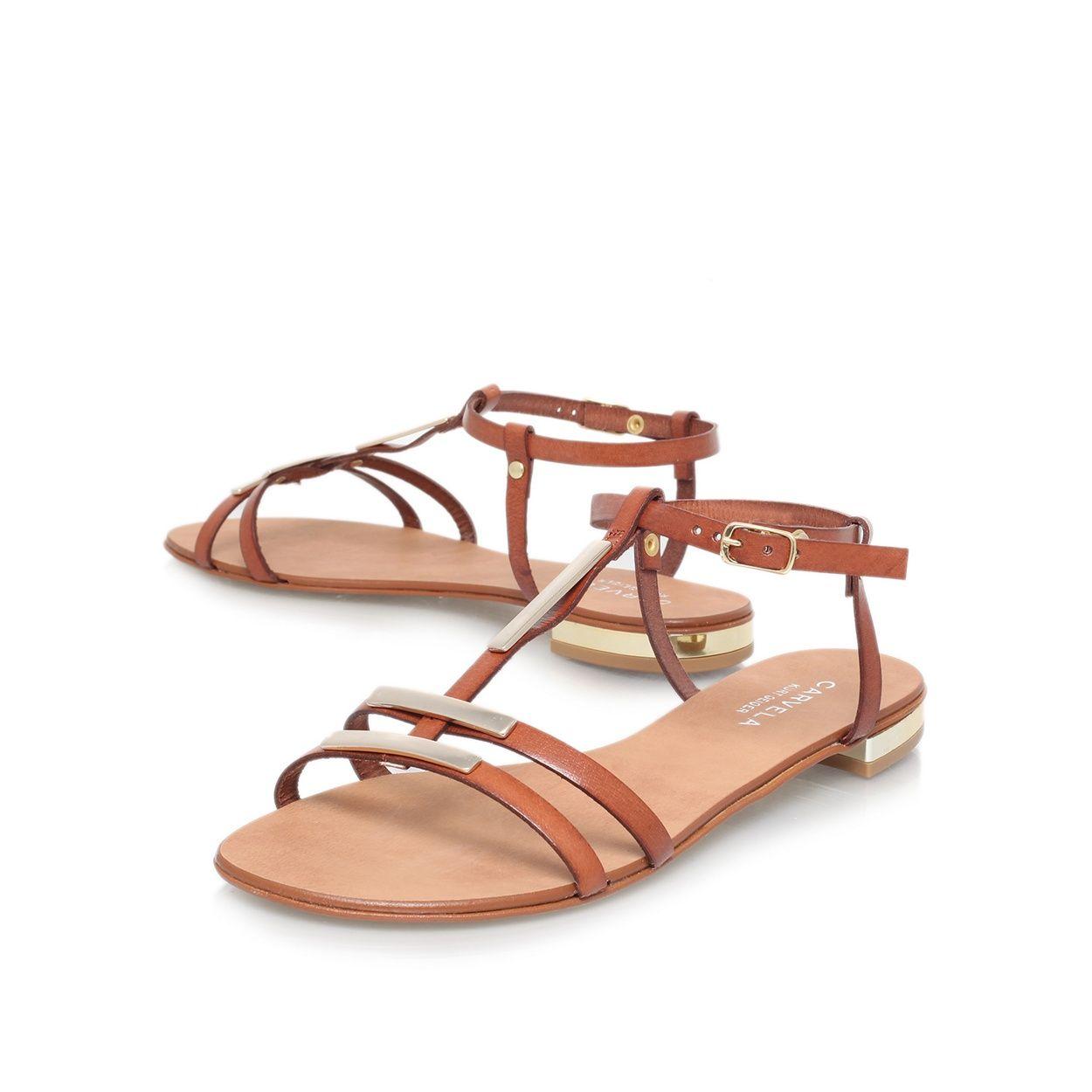 Black sandals debenhams - Carvela Tan Kinetic Flat Sandals At Debenhams Com