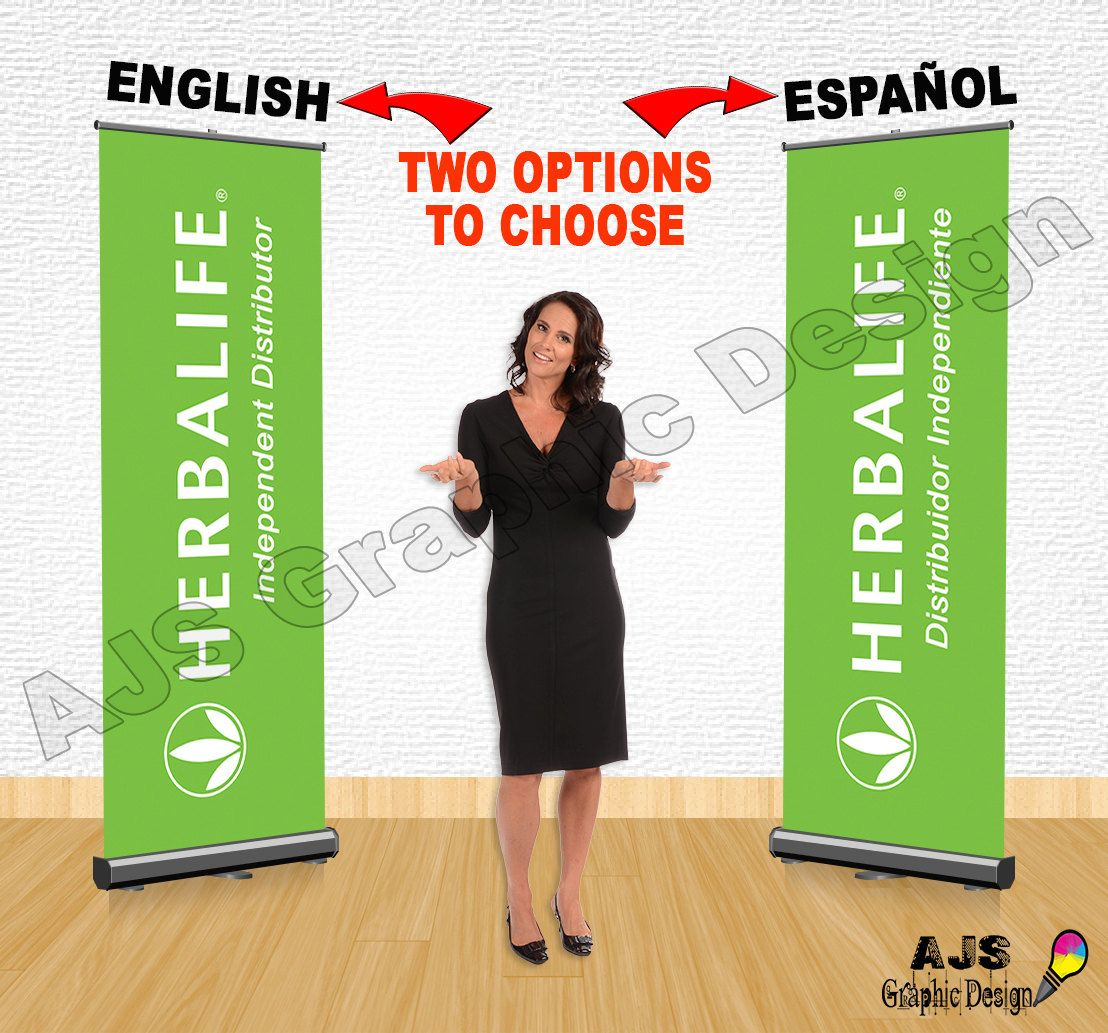 Herbalife Independent Distributor Retractable Roll Up Banner 34 X 79 Inch 2 83 X 6 58 Ft English Or Herbalife Herbalife Business Cards Herbalife Business