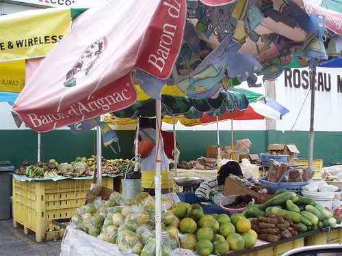 roseau heritage market caribbean