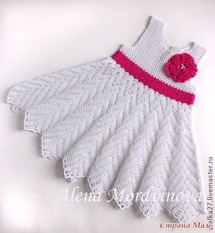 Vestido tejido de 0 a 3 meses - Imagui | ParaMiBebe | Pinterest ...