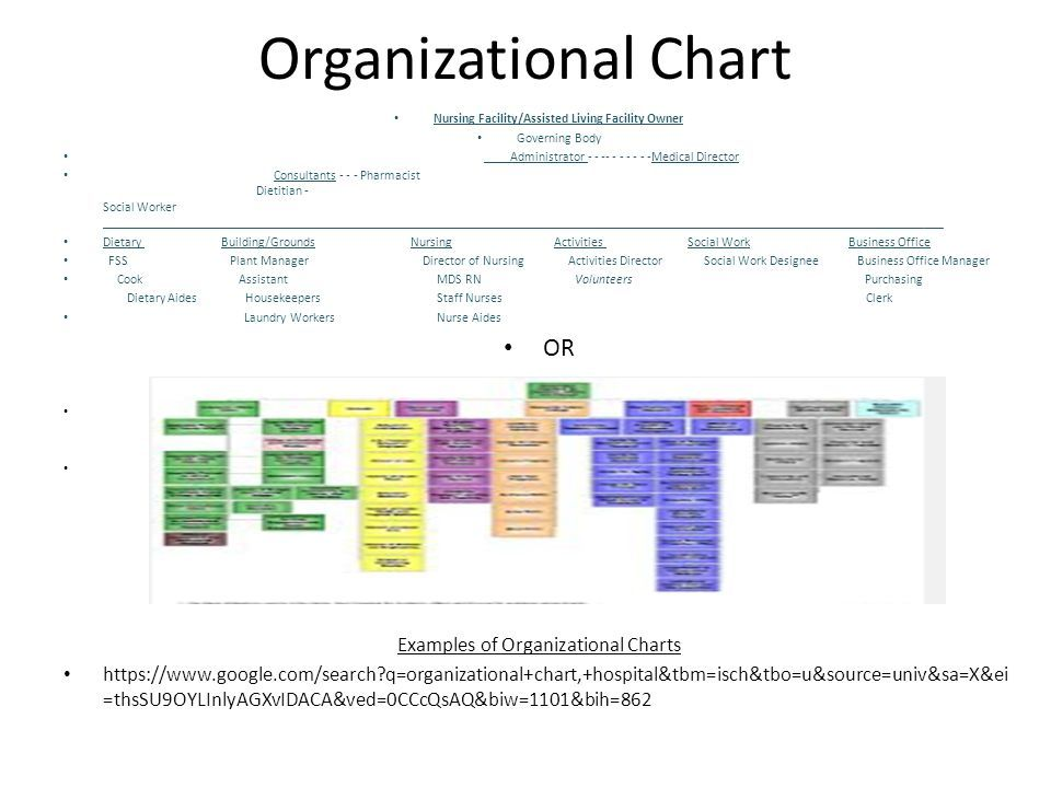 Image result for organizational chart for assisted living