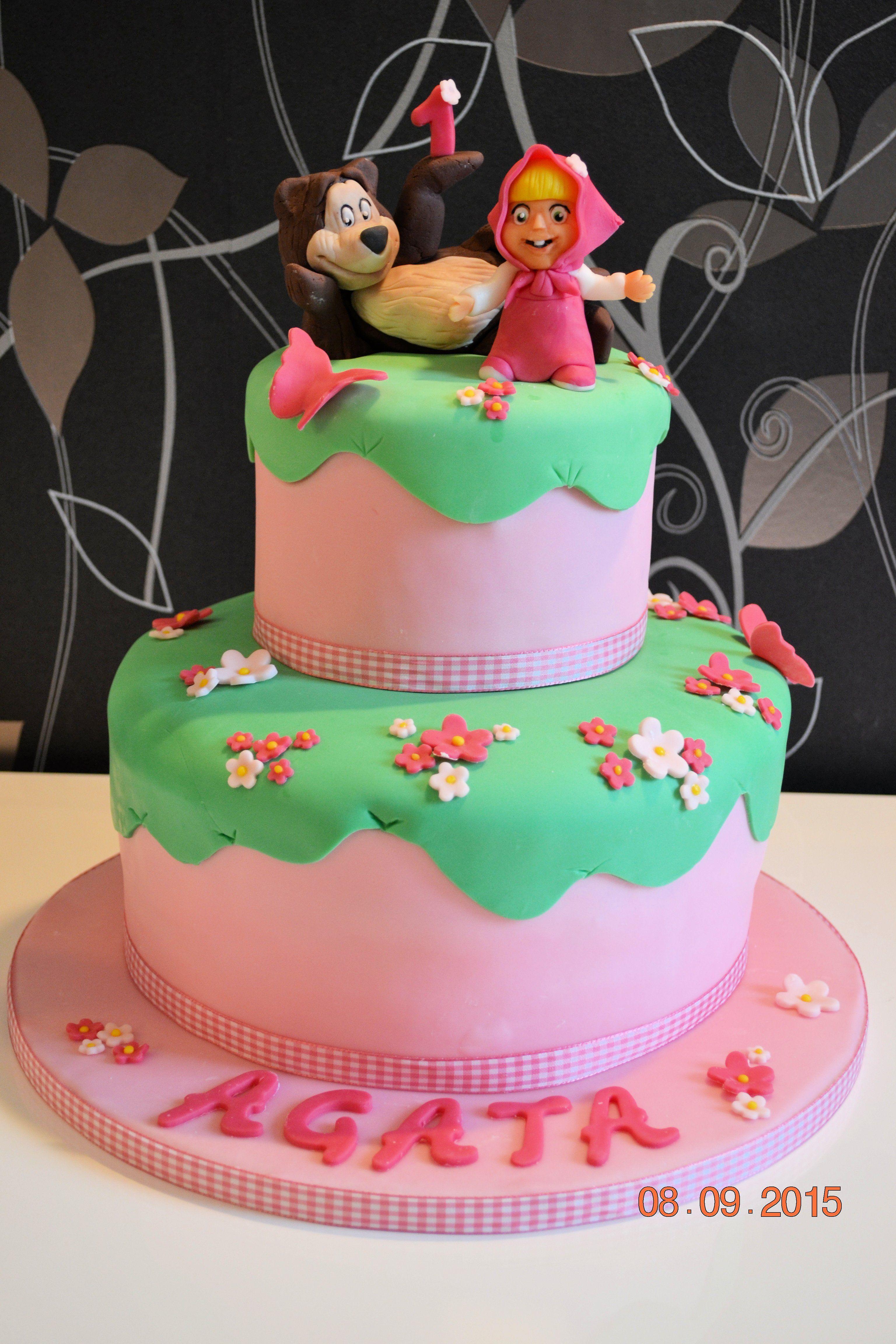 Masha And The Bear Birthday Cake My Cakes Pinterest Birthday - Bear birthday cake