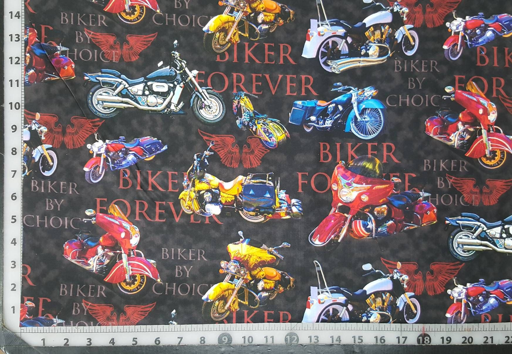 Bolt End 1 Yard And 27 100 Cotton Quilting Fabric Motorcycle Cruiser Harley Davidson Honda Kawasaki Yamaha Suzuki Digital David Text Cotton Quilting Fabric Harley Davidson Fabric Digital Prints